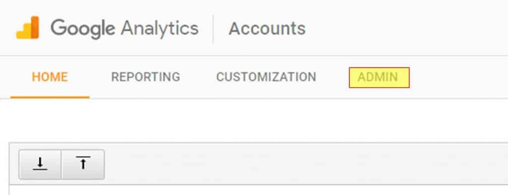 Google Analytics select admin
