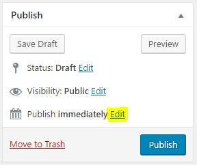 publish posts on wordpress