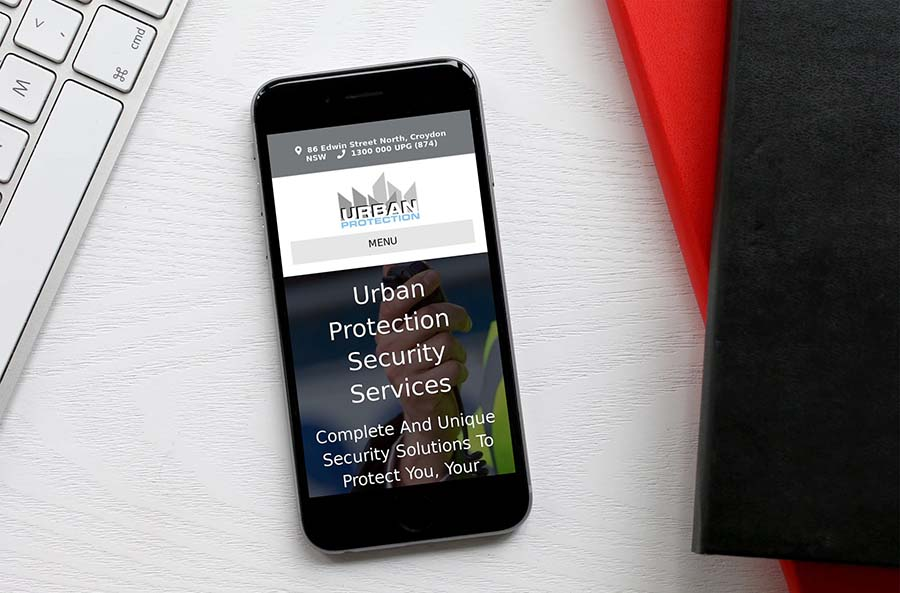 Urban Protection Security Services website Croydon